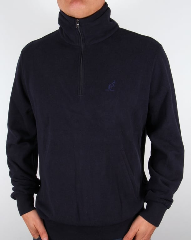 Australian By Lalpina Quarter Zip Fleece Navy