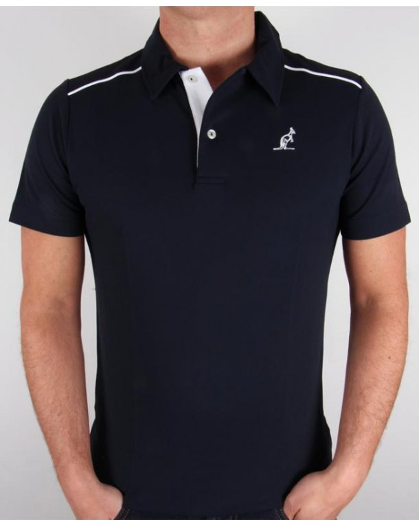 Australian By Lalpina Shoulder Stripe Polo Shirt Navy/white