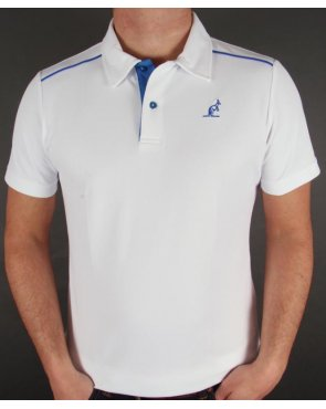Australian By Lalpina Shoulder Stripe Polo Shirt White/Royal Blue