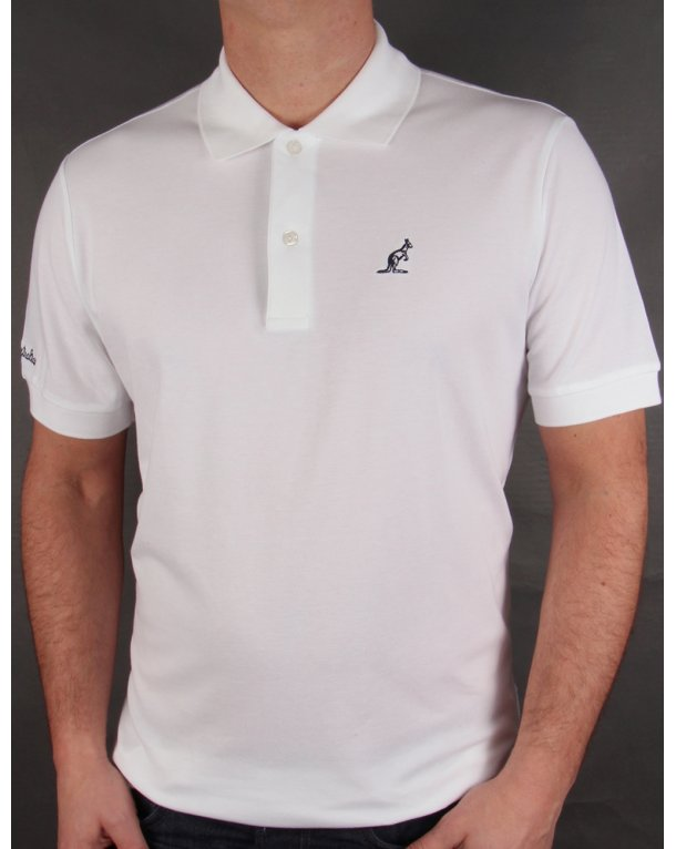 Australian By Lalpina Small Logo Polo Shirt White