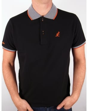 Australian By Lalpina Striped Collar Polo Shirt Black