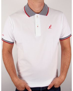 Australian By Lalpina Striped Collar Polo Shirt White