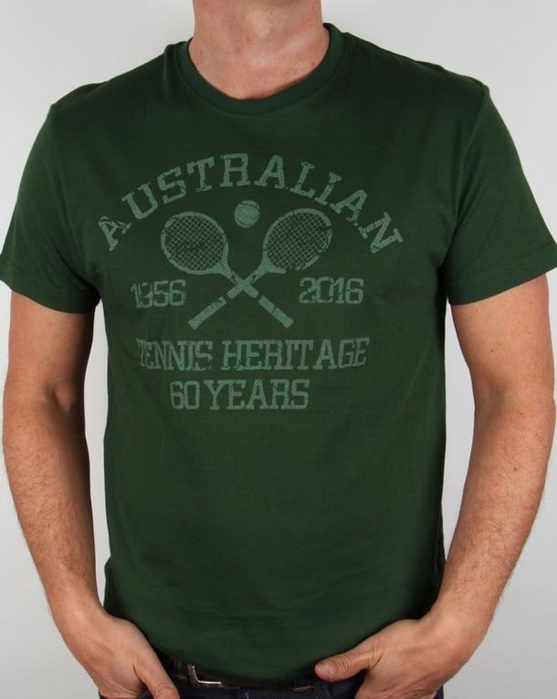 Australian By Lalpina Tennis Heritage T-shirt Dark Green