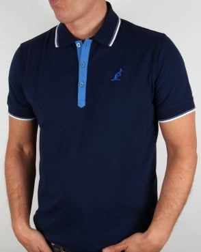 Australian By Lalpina Tipped Polo Shirt Navy