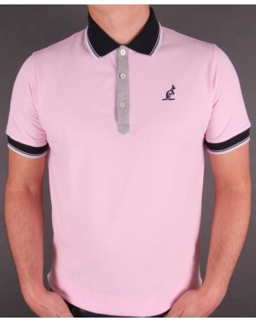 Australian By Lalpina Tipped Polo Shirt Pink