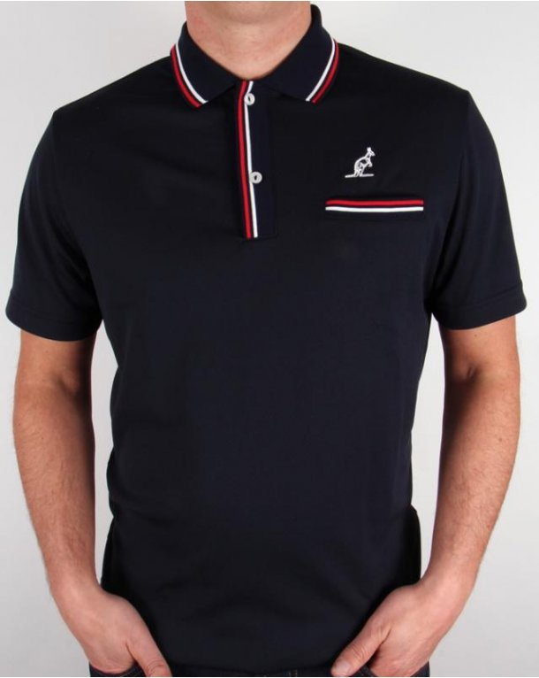 Australian By Lalpina Twin Tipped Polo Shirt Navy