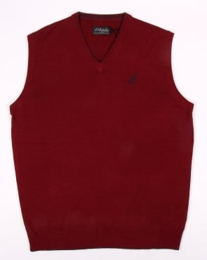Australian By Lalpina V Neck Jumper Burgundy