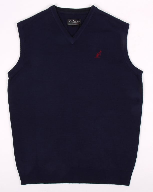 Australian By Lalpina V Neck Jumper Navy