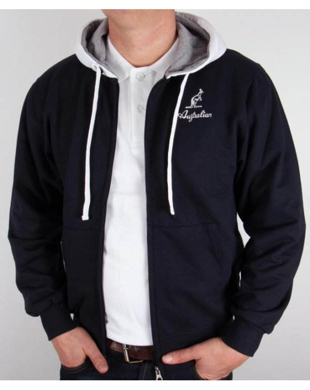 Australian By Lalpina Zip Through Hoodie Navy