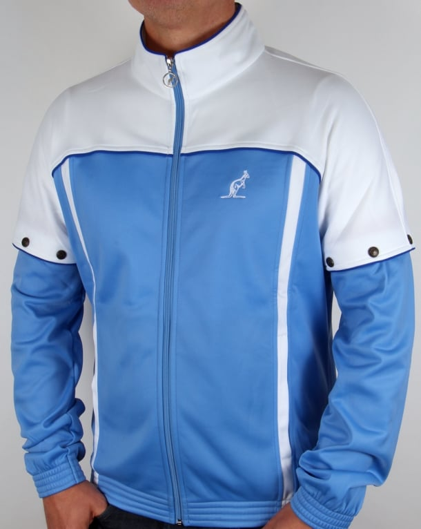 Australian Lalpina Bex Track Top White/Blue