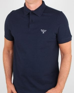 Barbour Beacon Polo Shirt New Navy