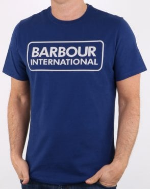 Barbour Block Logo T-shirt Blue