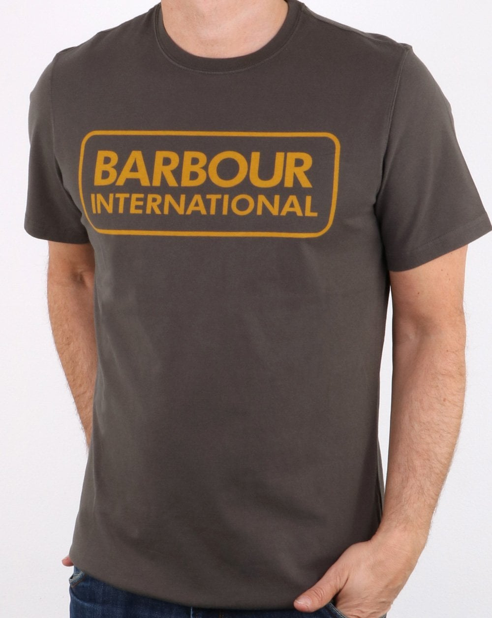 602aacb90 Barbour Block Logo T-shirt Olive