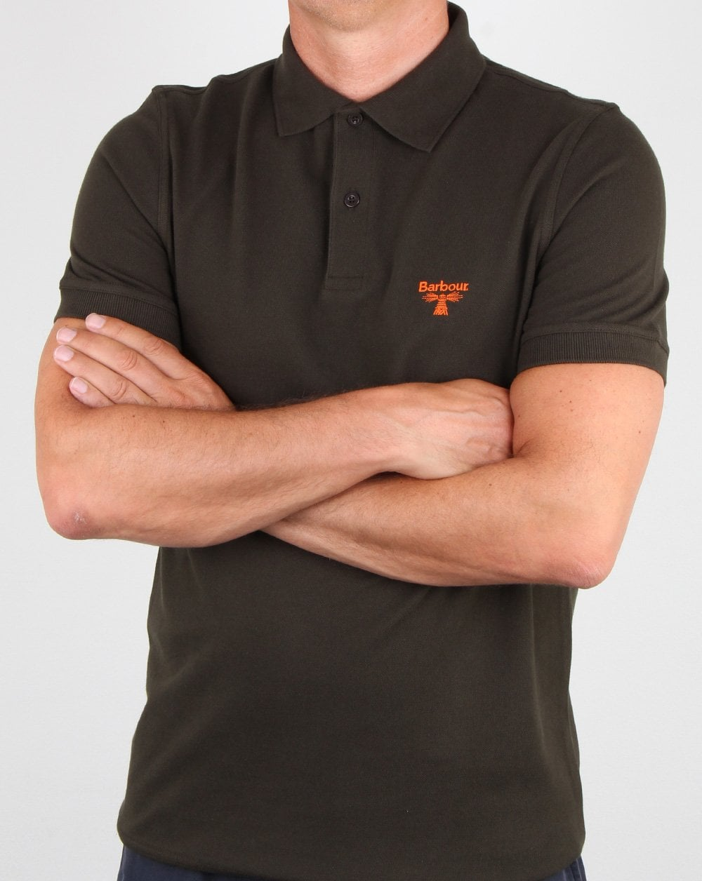 Barbour Business Beacon Polo Shirt Forest Green Mens Polo Cotton