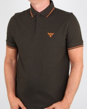 Barbour Business Beacon Tipped Polo Shirt Forest Green