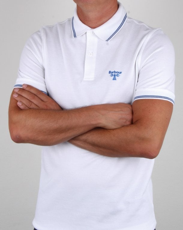 Barbour Business Beacon Tipped Polo Shirt White