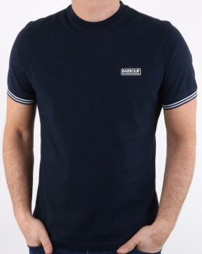 Barbour Cable Tipped Tee Navy
