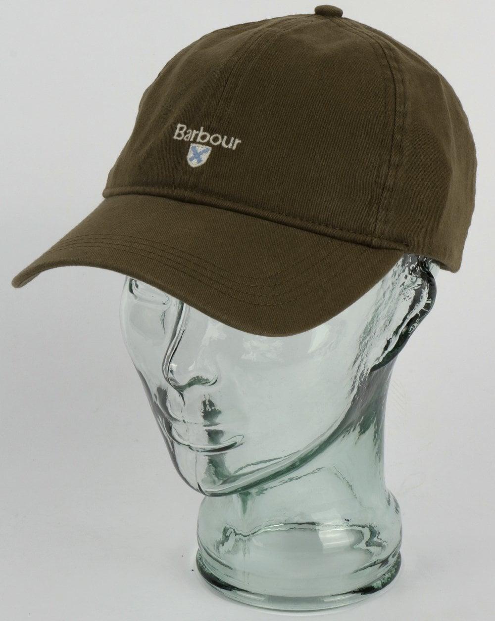 01496d74a329e Barbour Cascade Baseball Cap Olive,green,sports,logo,cotton