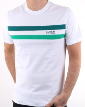 Barbour Circuit Tee White