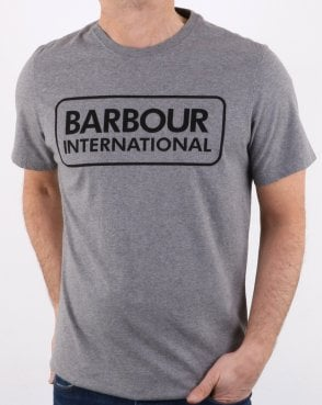Barbour Essential Logo T-shirt Grey