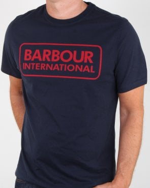 Barbour Essential Logo T-shirt New Navy