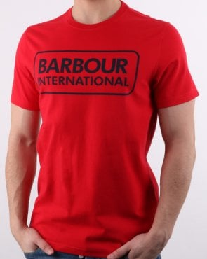Barbour Essential Logo T-shirt Vibrant Red