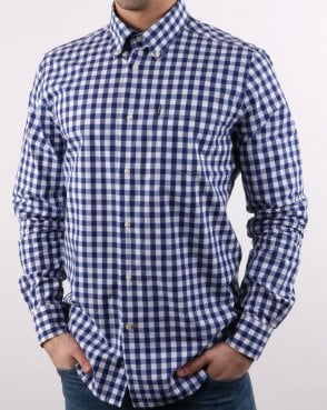 Barbour Gingham Shirt Inky Blue
