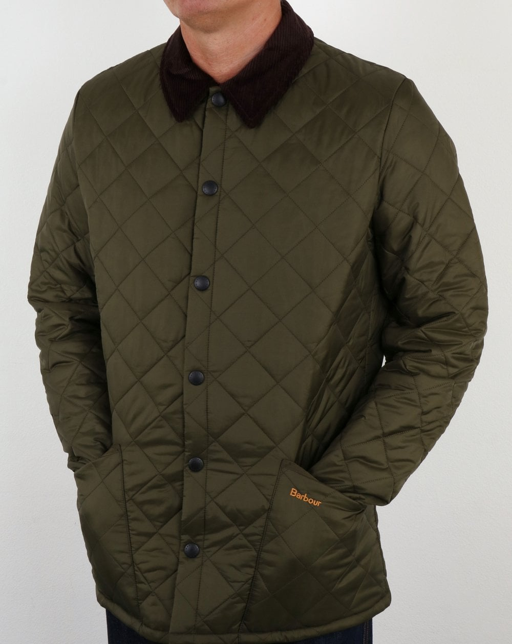 Barbour Heritage Liddesdale Quilted Jacket Olive Green