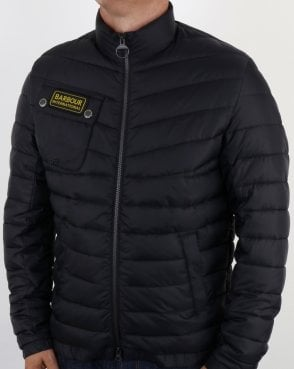 Barbour International Chain Quilted Jacket Black