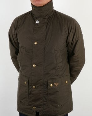 Barbour Lingmell Wax Jacket Clay