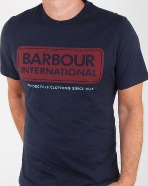 Barbour Logo T-shirt Navy