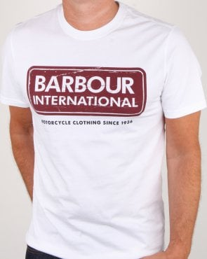 Barbour Logo T-shirt White
