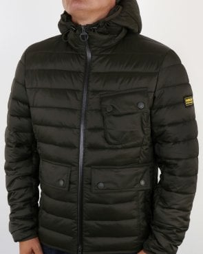 Barbour Ouston Hooded Padded Jacket Olive