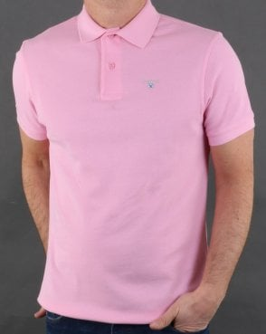 Barbour Polo Shirt Pink