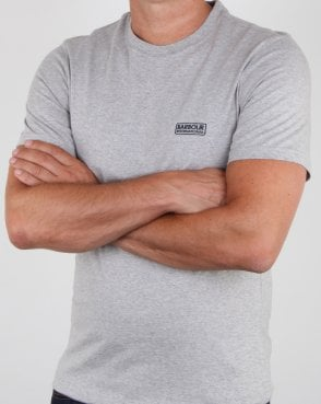 Barbour Small Logo T-shirt Grey Marl