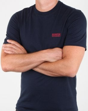 Barbour Small Logo T-shirt Navy - Red