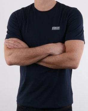 Barbour Small Logo Tee Navy