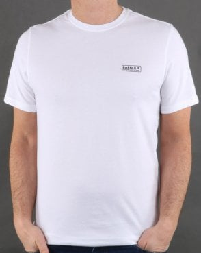 Barbour Small Logo Tee White
