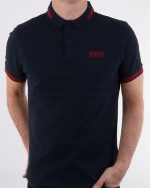 Barbour Tipped Polo Navy