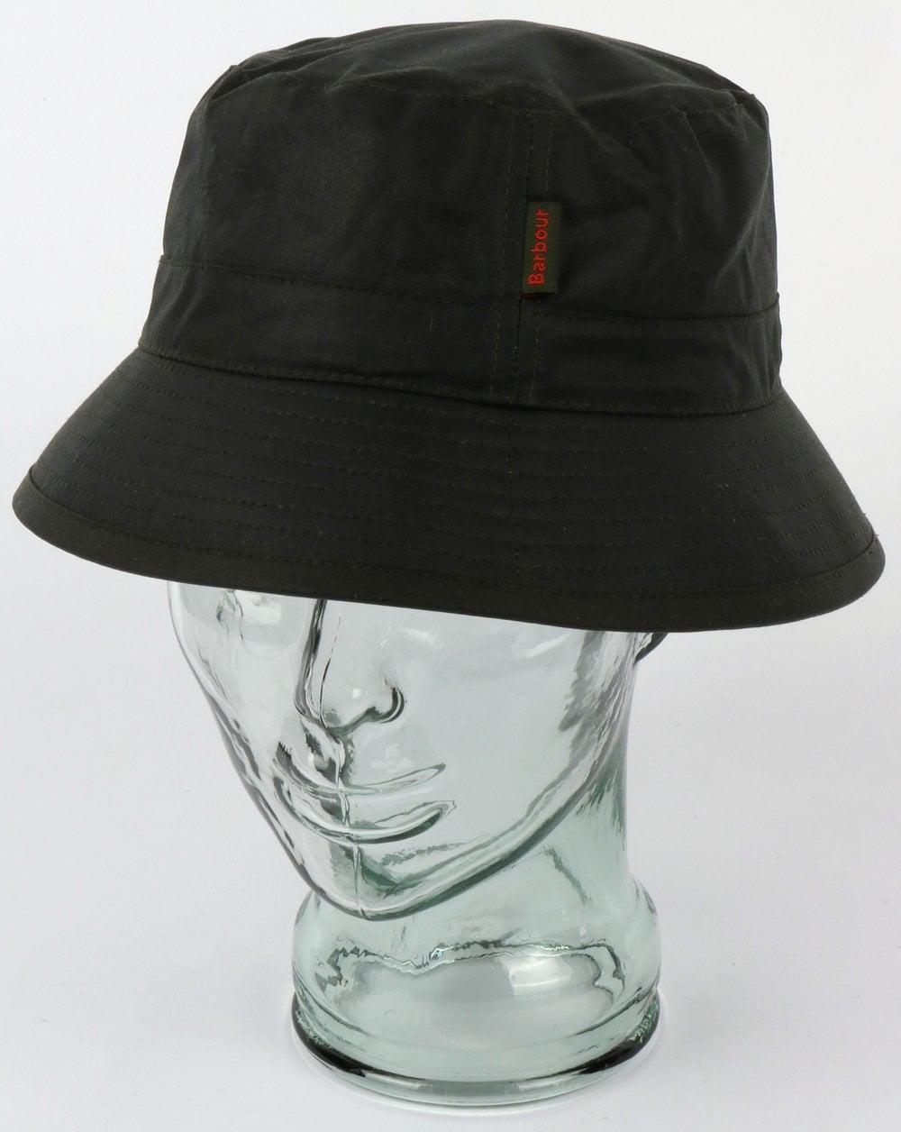 9dab9ecb7e4 Barbour Wax Bucket Hat Sage