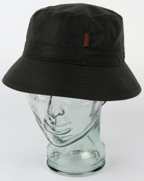 Barbour Wax Bucket Hat Sage