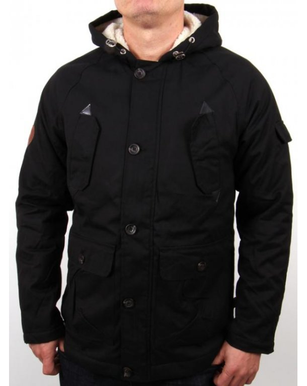 Bellfield Artis Parka Jacket Black
