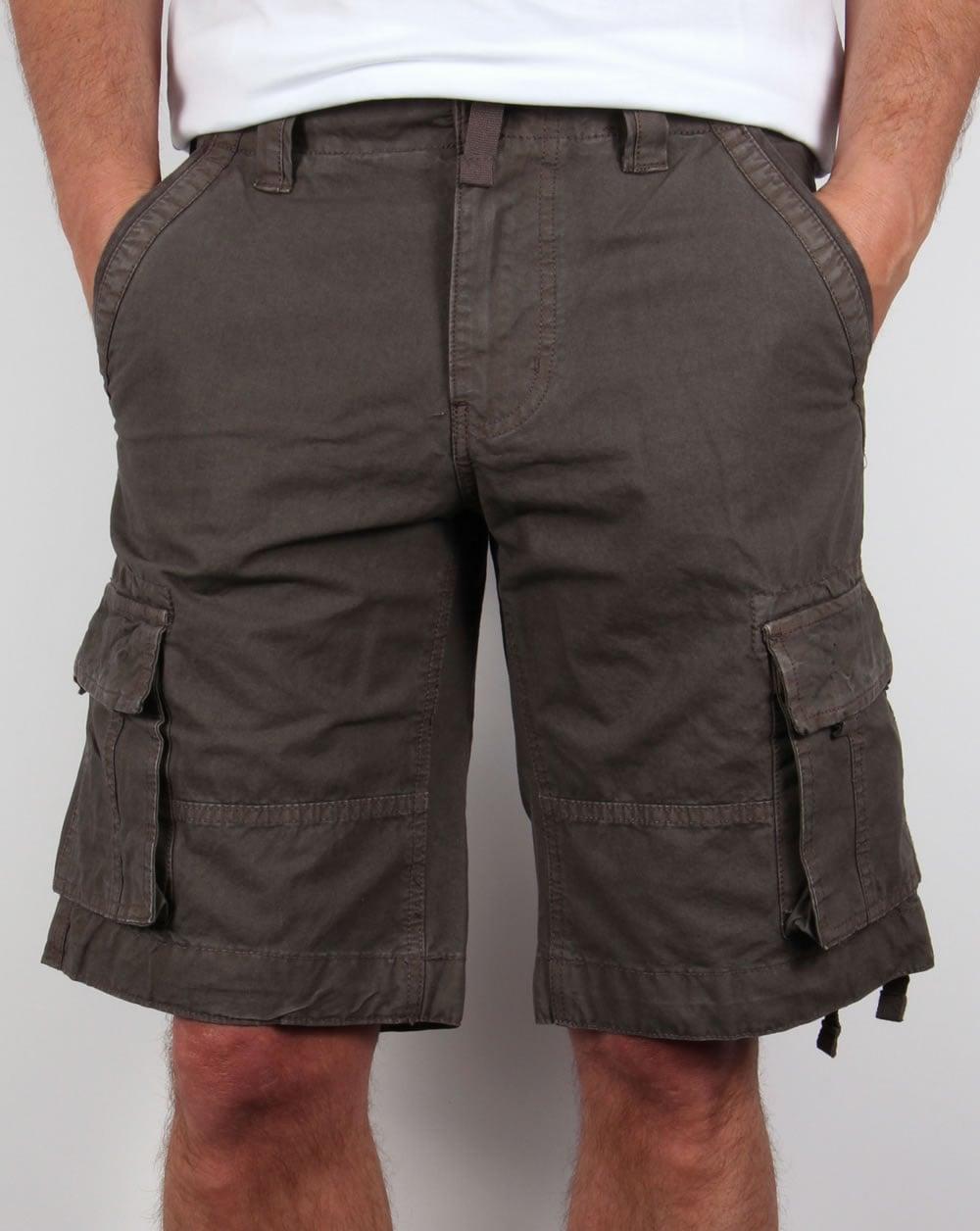 4a09f113f3 Bellfield Combat Shorts Khaki,cargo,multi pocket,army,mens