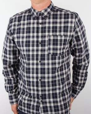 Bellfield Dillon Check Shirt Blue
