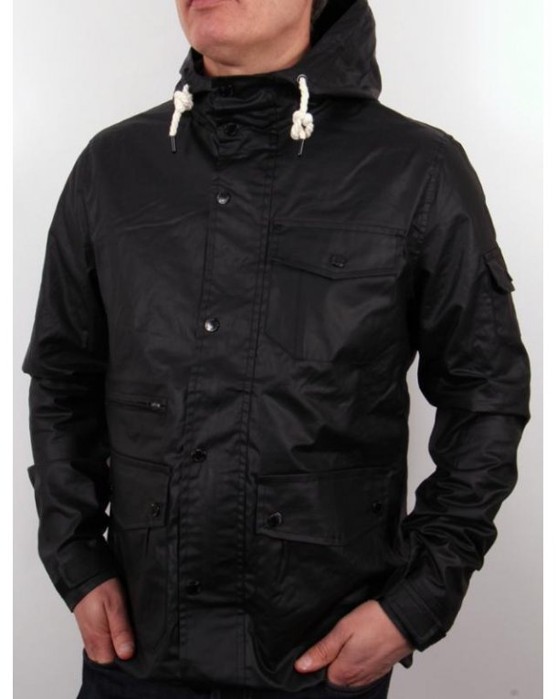Bellfield Farlham Hooded Jacket Black