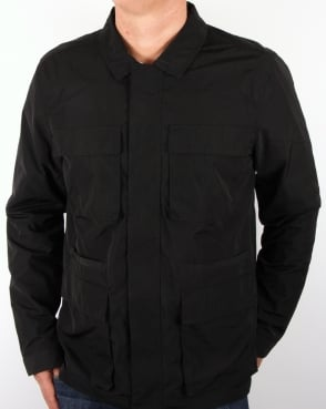 Bellfield Pogue Overshirt Jacket Black