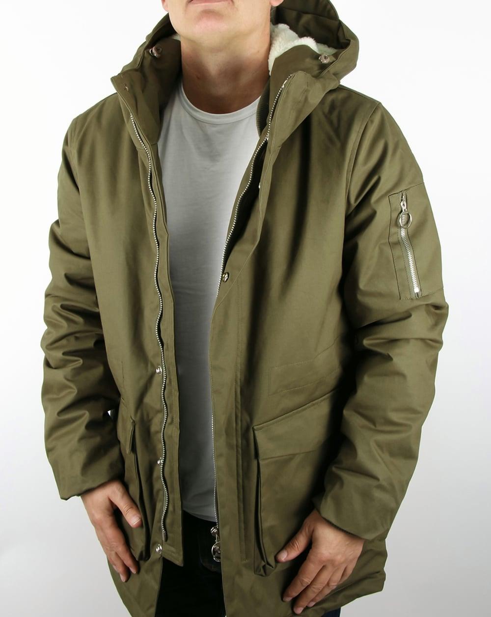 b601077b55aa4 Bellfield Ramaty Parka Khaki,padded,hooded,coat,jacket,mens