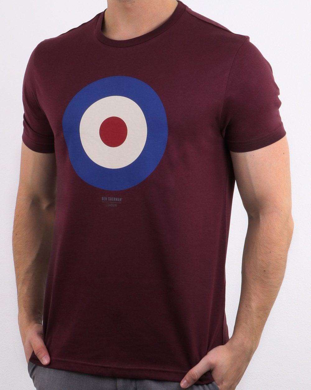 Decir a un lado Petición Aproximación  Ben Sherman Target T Shirt in Burgundy | 80s casual classics