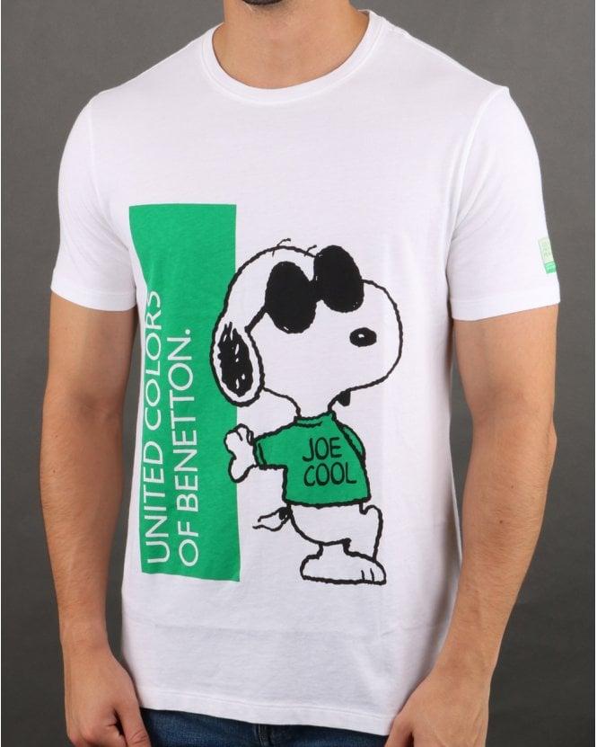 new style f3487 6ed7c Benetton Snoopy T-shirt White