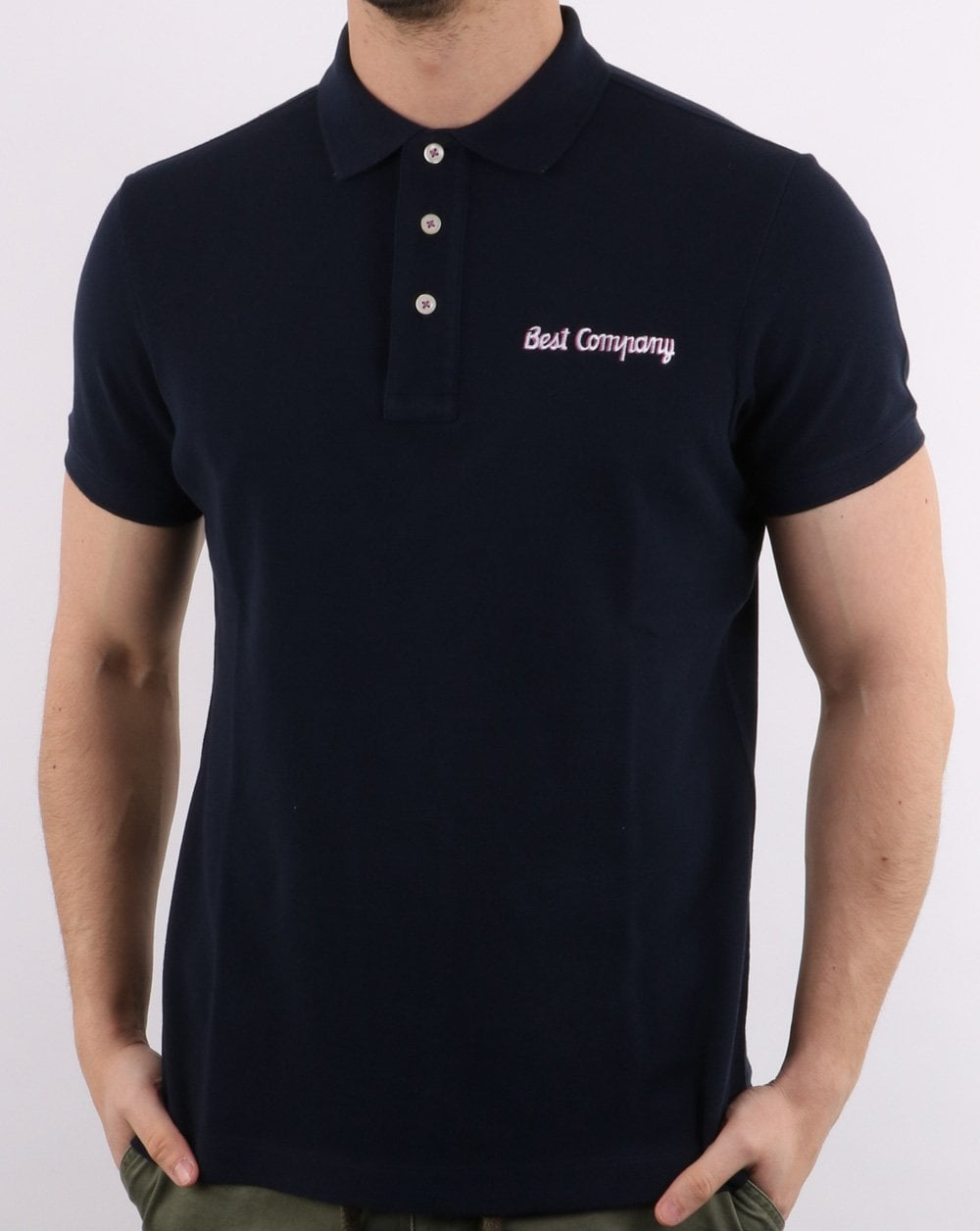 Best Company Pique Polo Shirt Navy